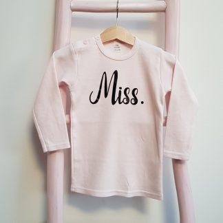Shirt licht roze Miss lange mouw foto2