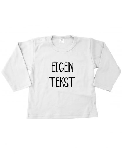 Tshirt wit eigen tekst