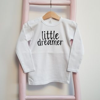 Tshirt wit little dreamer lange mouw foto
