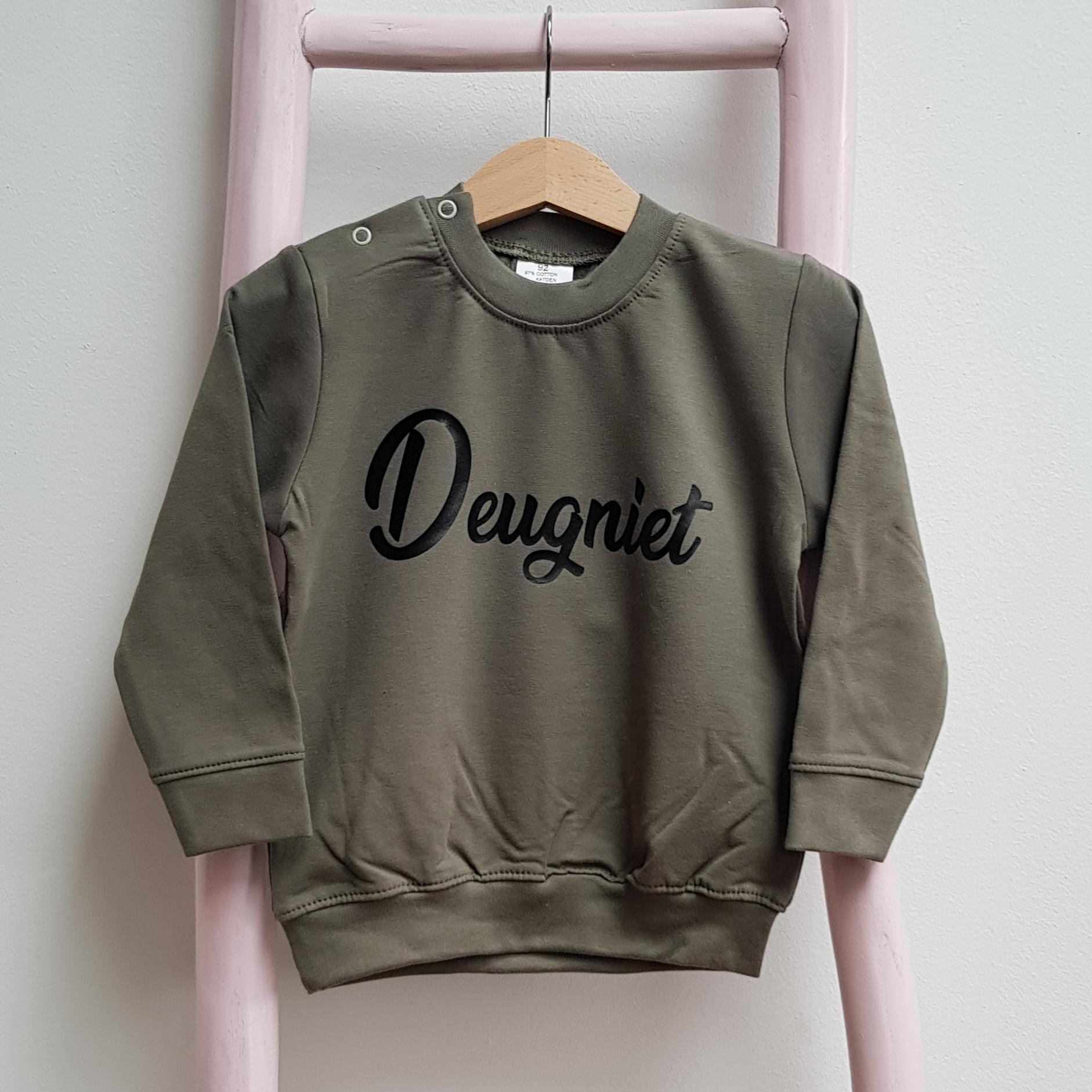 sweater legergroen Deugniet foto
