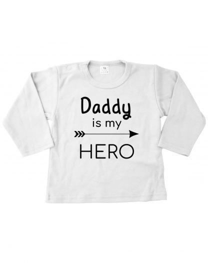Tshirt wit daddy is my hero