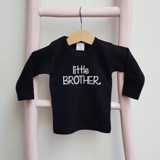 tshirt little brother zwart broertje zus zusje