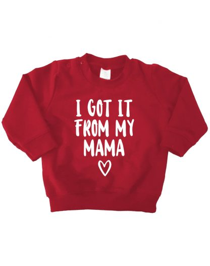 baby kinder Sweater bordeaux rood i got it from my mama