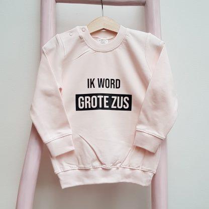 Sweater licht roze ik word grote zus foto