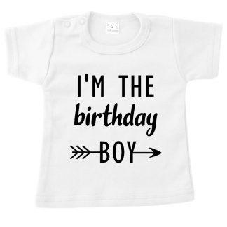 Tshirt wit i'm the birthday boy jarig verjaardag