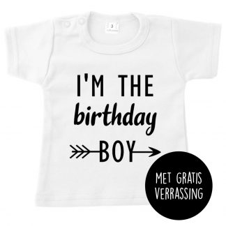 Tshirt wit i'm the birthday boy gratis verrassing the birthday boy jarig verjaardag