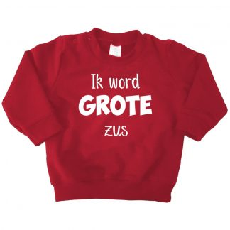 Ik word grote zus bordeaux rood sweater
