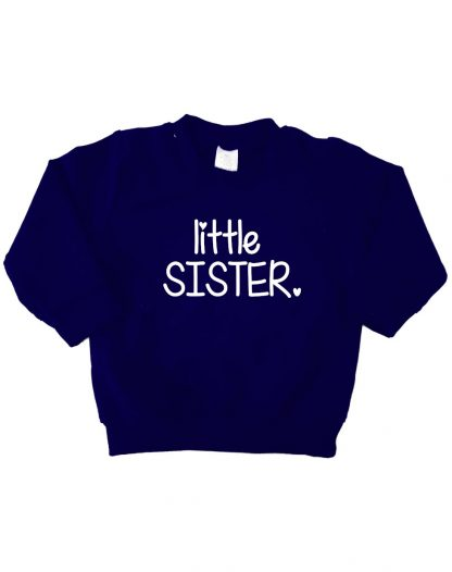 donker blauwe sweater little sister