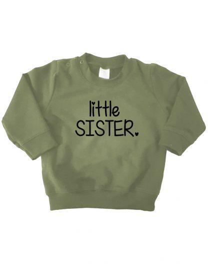 legergroene sweater little sister