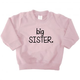 licht roze sweater big sister
