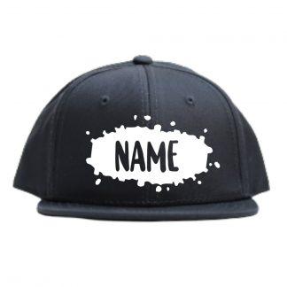 Snapback pet cap met naam verfspat