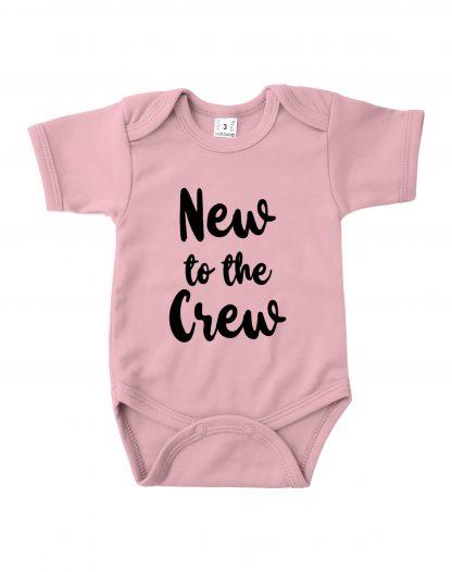 Romper roze korte mouw new to the crew