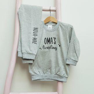 kinder Pyjama Opa oma mama papa lieveling