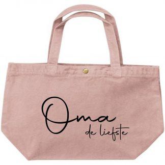 Grote luxe dames canvas shopper oma is de liefste