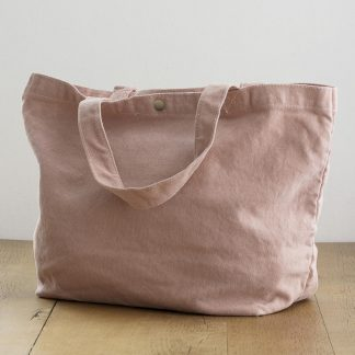 Luxe roze dames canvas shopper